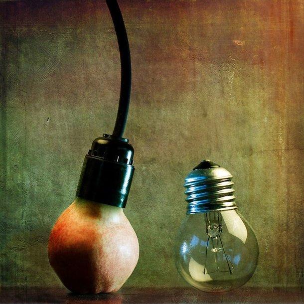 Kriaušė ir lempa