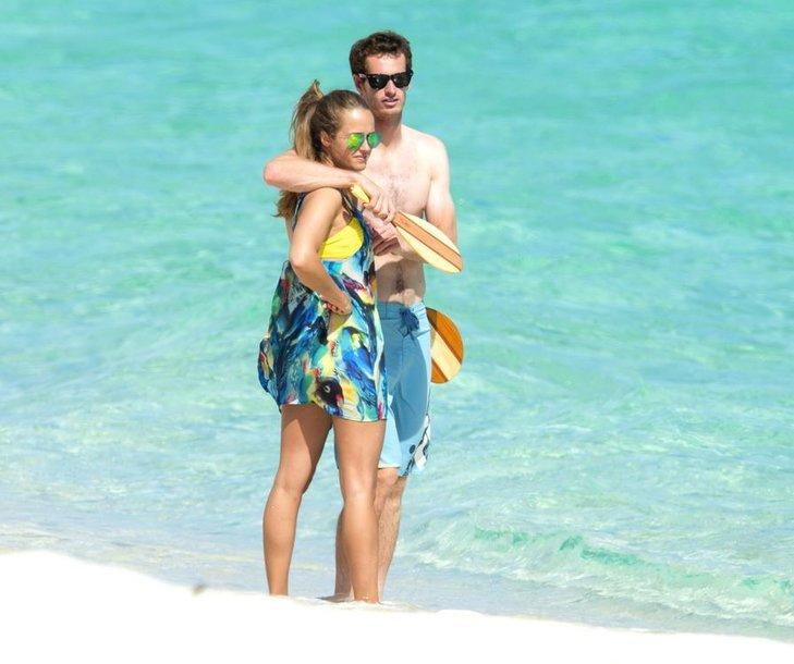 Andy Murray su mylimąja Kim Sears Bahamų salose