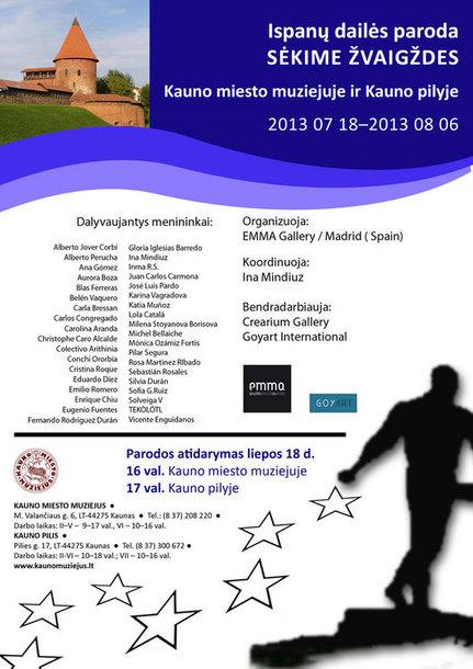 """Kauno miesto muziejuje ketvirtadienį atidaroma tarptautinė kolektyvinė šiuolaikinių Ispanijos menininkų paroda """"Sėkime žvaigždes"""""""