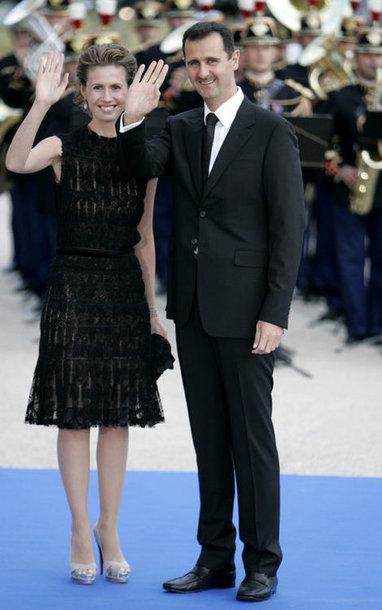 Башар Асад с супругой