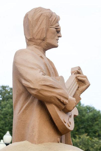 Johno Lenonno smėlio skulptūra