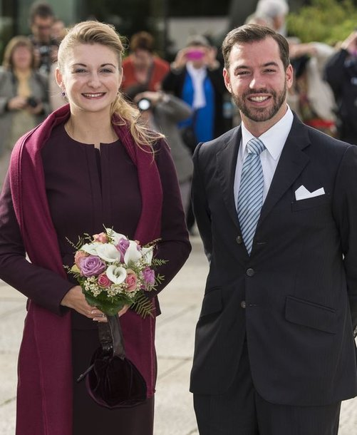 Liuksemburgo princas Guillaume'as ir belgų grafienė Stephanie de Lannoy