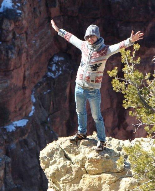 Mantas Eigirdas prie Didžiojo kanjono JAV