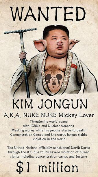 """""""Anonymous"""" piešinys Šiaurės Korėjos puslapiuose"""