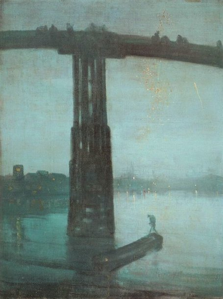 "James Abbott McNeill Whistler ""Nocturne: Blue and Gold – Old Battersea Bridge"""