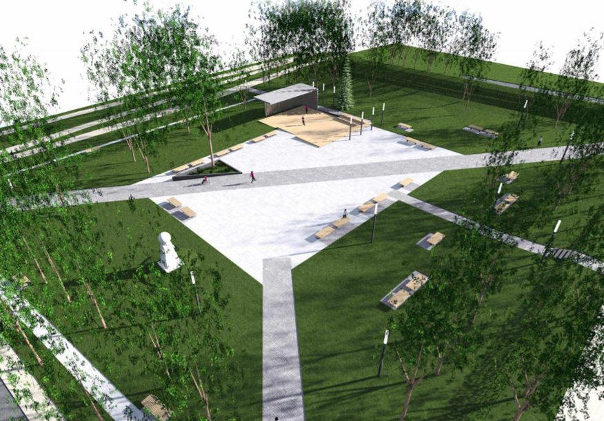 Planuojama rekonstruoti Eduardo Balsio skverą