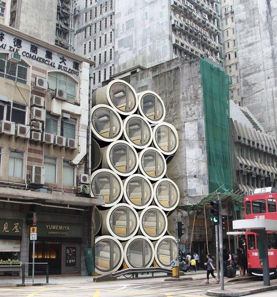 """Honkongo projektuotojų studijos """"mikronamų"""" koncepcija"""