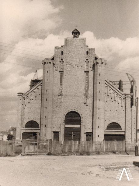 Švč. Jėzaus Širdies bažnyčios priekinis fasadas, 1919 m. nuotrauka