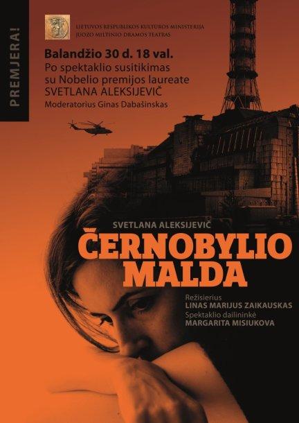 """Juozo Miltinio dramos teatre pristatomas spektaklis """"Černobylio malda"""""""