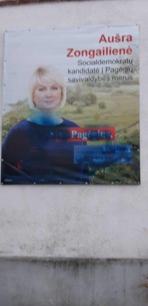 Aušros Zongailienės reklaminis plakatas