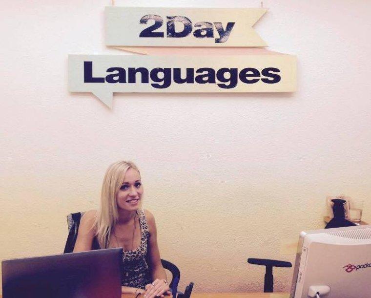 Darbo vietoje kalbų mokykloje Valensijoje