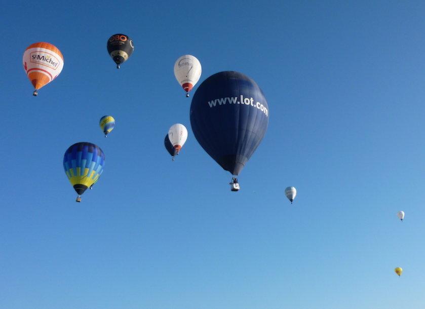 Oro balionų šou
