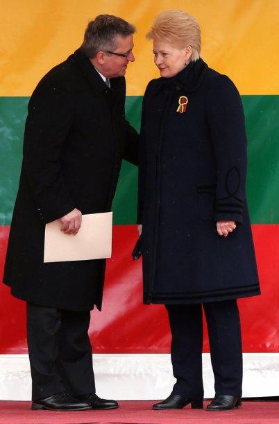 Lenkijos prezidentas Bronislaw Komorowski  ir Lietuvos prezidentė Dalia Grybauskaitė