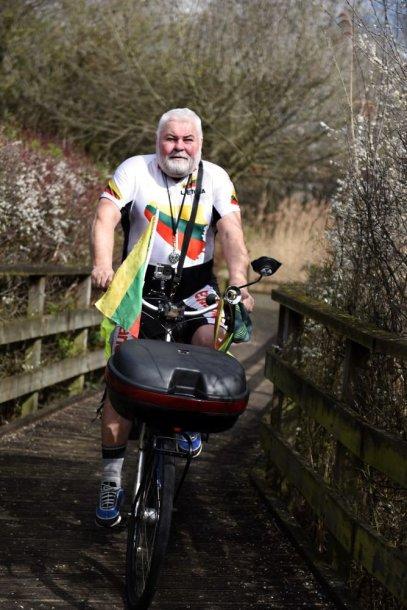 Egidijaus Staškevičiaus jubiliejinė svajonė tikrai neįprasta – vyras užsimojo numinti dviračiu iš Londono į Klaipėdą