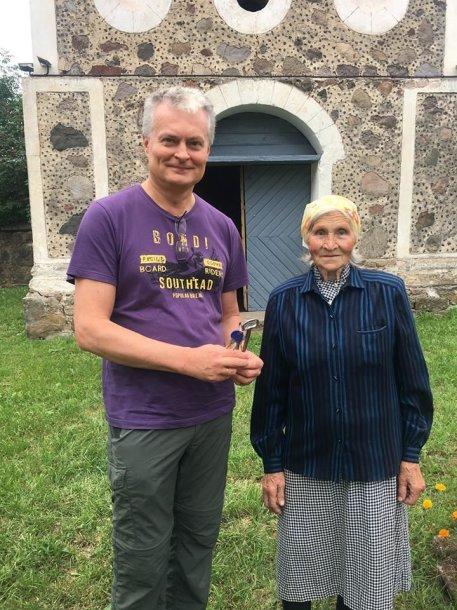 Gitanas Nausėda su ponia Kotryna