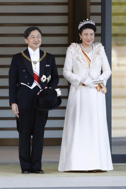 Japonijos imperatorius Naruhito su imperatoriene Masako