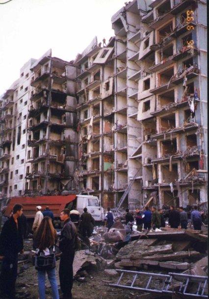 Pastatas Volgodonske, kurį iš dalies sunaikino sprogimas Rusijoje 1999 m.