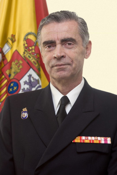 Ispanijos kariuomenės vadas generolas admirolas Fernando García Sánchezas