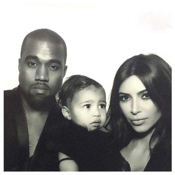 Kim Kardashian ir Kanye Westas su dukra North