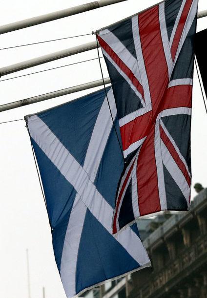 Didžiosios Britanijos ir Škotijos vėliavos