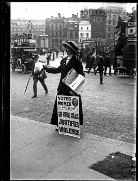Sufražistė Londone XX a. pradžioje
