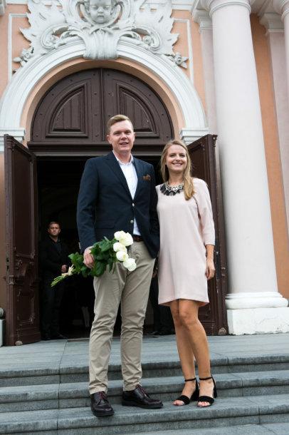 Mindaugas Stasiulis su žmona Karolina