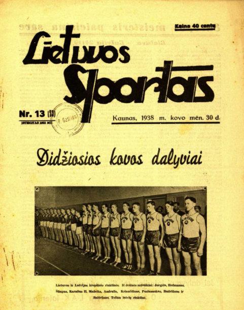 """Laikraščio """"Lietuvos sportas"""" viršelis"""