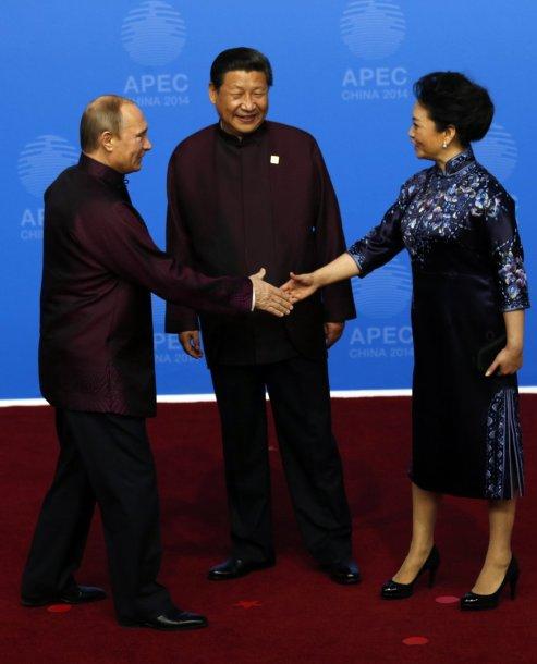 Vladimiras Putinas, Xi Jinpingas ir jo žmonas Peng Liyuan